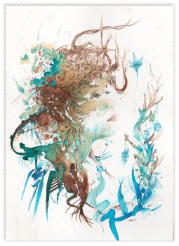Reverie - painted in ink and tea by Carnegriff