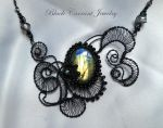 Night Cloud with Labradorite by blackcurrantjewelry