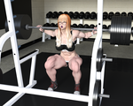 Deep Squats: Sports Bra Muscle by TrentHarlow
