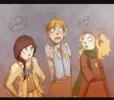 Sara, Benjamin and Ida by MarionetteDolly
