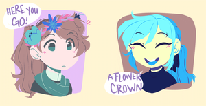 EG: Flower Crown Friends by pianobelt0