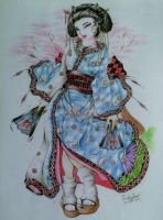 Cherry Blossom Geisha by DustinProvost