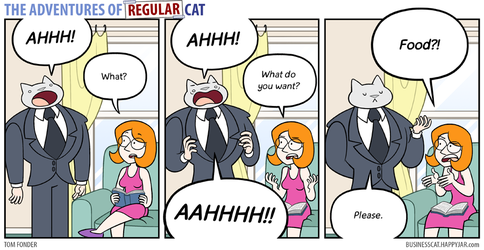The Adventures of Regular Cat - Communication by tomfonder