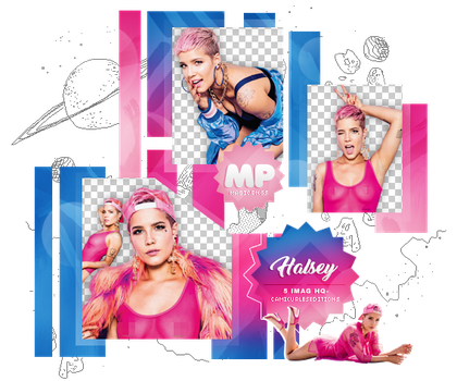 PACK PNG 1005| HALSEY by MAGIC-PNGS