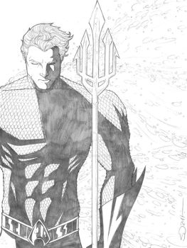 Aquaman Sketch by sorah-suhng