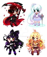 Chibi Team RWBY by piketta