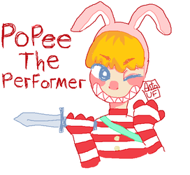 Popee the Performer silly doodle by UiritasFujoshi