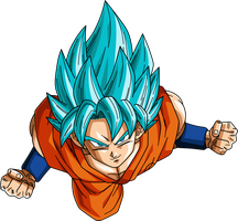 Son Goku Super Saiyan God Super Saiyan by Dark-Crawler