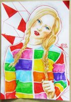 blonde in rainbow by shinei-chan