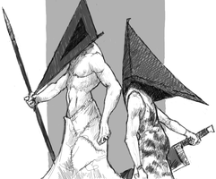 Pyramid Heads by Manic-and-Monstrous