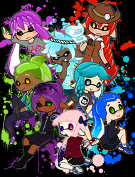 Squid friends by ThaMutt