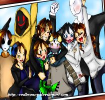 Group Picture :3 .:CreepyPastas:. by RedBronny