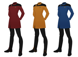 Star Trek concept uniform, pregancy variant by JJohnson1701