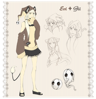 Evi and Gii by BloodlineV