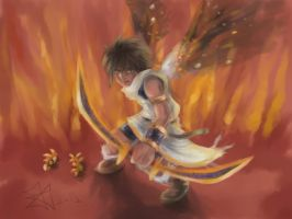 Pit on Fire - Kid Icarus Uprising by Xavy-027