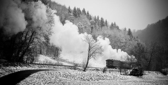 Snow and Steam by largethomas