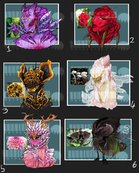Flower power- \\Demon/Alien Adopts\\CLOSED! by petplayer976
