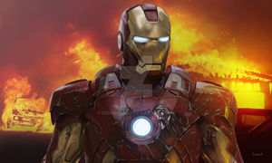 My Iron Man painting by sionwalker