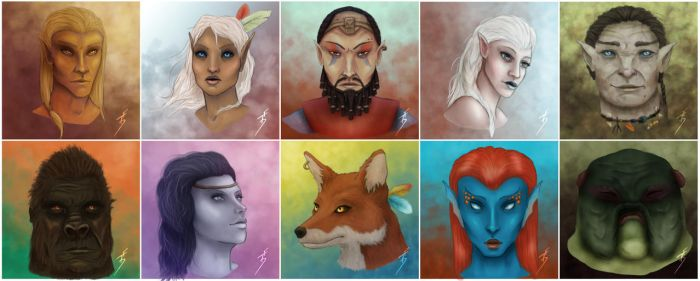 The Other Races of Tamriel by TobyFoxArt