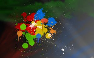 Splatter wallpaper by amzertech