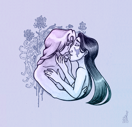Just one kiss by Hellypse