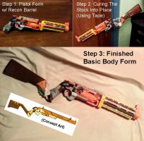 Cyberpunk Revolver Rifle: One Night's Work by KingMakerCustoms