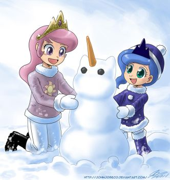 Building a Snow Unicorn by johnjoseco