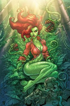 ArkhamCity Poison Ivy colors by Chuckdee