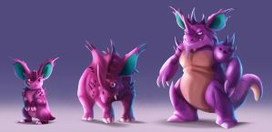 Pokemon - Nidoran male line
