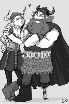 Older Hiccup and Astrid by BehindtheVeil