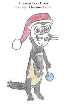 SS - Christmas Ferret by Crash-the-Megaraptor