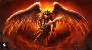 Angel Knight-Hell Variant by atomhawk
