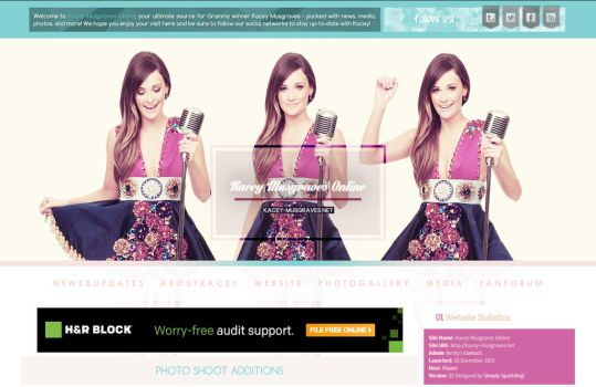 Kacey Musgraves Online Wordpress Theme by BurningBrightDesigns