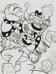 (MARIO SPOILERS!) Inktober 2017 Day 29 - United by Sea-Salt