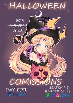 OPEN COMMISSIONS HALLOWEEN by Invader-celes