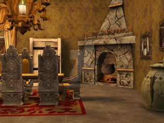 Palace #1: Medieval Royal Dinning Room by dualiman