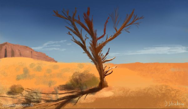 Tree in a desert by DanielSteinborn