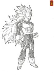 DBS Vegeta ssj3 by Blood-Splach