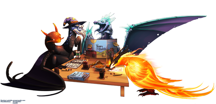 Commission: DOTA2 DnD Group by MarikBentusi