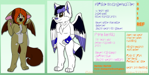 Riptide and Pyro Reference Sheet (2015) by ComputerDeathglare