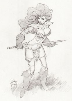 Red Sonja sk01 by RandyGreen