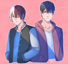 Kageyama and Todoroki by kos-tyan