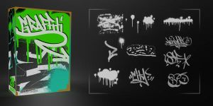 21 Awesome Graffiti Brushes by MediaMilitia
