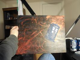 Tardis Painting by wolfdog127