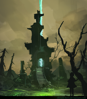 Necromancer Tower by Zbrush-Hero