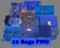 10 png Blue Bags by JEricaM