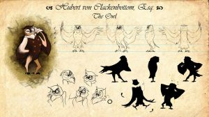 Model Sheet: Hubert von Clackenbottom, Esq. by Lizerology