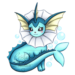 Vaporeon by Cristal-Zhaduir