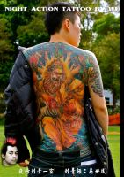 NIGHT ACTION TATTOO BY WU by wsm540
