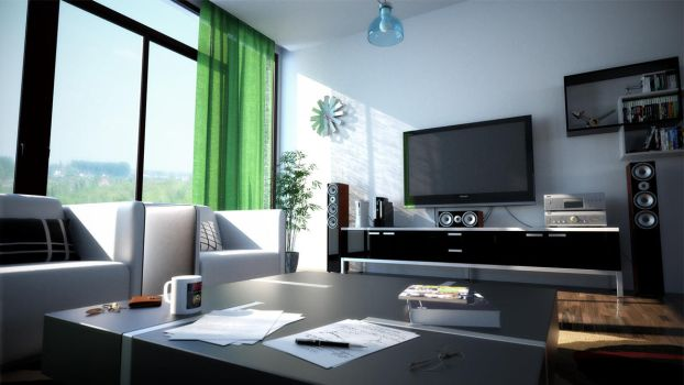 Just a Living Room by Arthondar